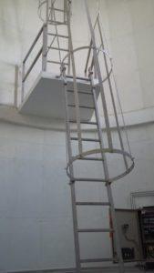 échelle crinoline acier galvanisé