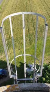 sortie évasée crinoline avec marche palière